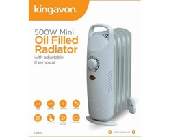 Kingavon Mini Oil Filled 5 Fin 450W Radiator Heater