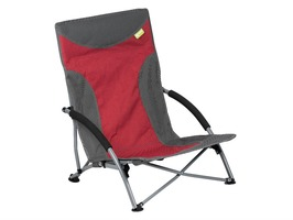 Kampa Sandy High Back Low Chair Red