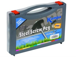 Kampa Steel Screw Peg Pack
