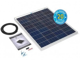 80 Watt Solar Panel Kit with 10Ah Charge Controller
