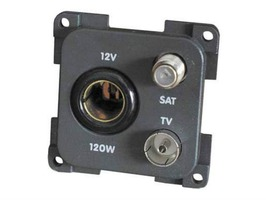 CBE 12v TV & Satellite Socket - Grey