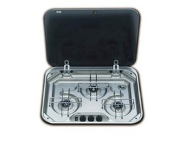 Smev 8023 3-Burner Gas Hob with Glass Lid