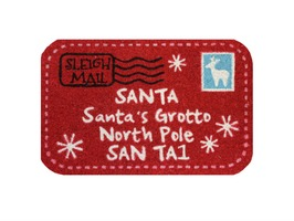 JVL Santa Mail Shaped PVC Coir Mat