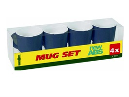 Brunner Mug Set of 4 Blue with Anti-Slip Base