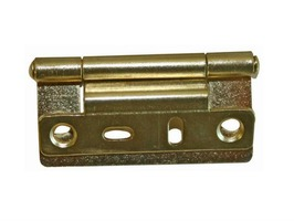 W4 Cranked Flush  Hinge Brass Pack 2