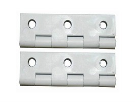 W4 50mm White Nylon Hinge Pack 2
