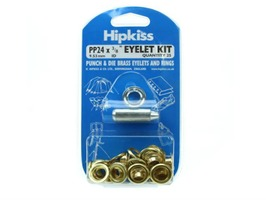 Hipkiss Brass Eyelets & Rings with Punch & Die