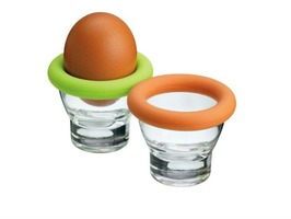 Colourworks Glass Egg Cups with Silicone Band