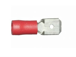 W4 Male Push-On Terminal 6.35mm (Red) Pre-Insulated - Pack 3