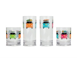 Camper Smiles Acrylic Short Tumbler Pack 2