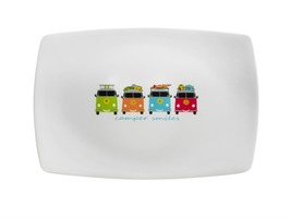 Flamefield Camper Smiles 35cm Rectangular Platter/Tray