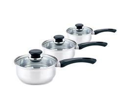 3-Piece Stainless Steel Pan Set