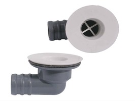 "Plastic Angled Sink Waste 3/4"" with Plug"