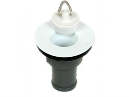 "Plastic Straight Sink Waste 3/4"" with Plug"