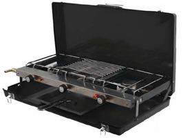 SunnCamp Foldaway Double Burner & Grill - Black