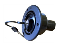 Zadi Universal Black Tank Filler 40mm with Locking Cap & 2 Keys