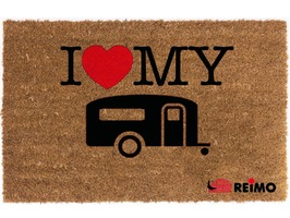 Reimo I Love My Caravan Coconut Doormat