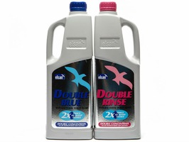 Elsan Twin Pack - 2 Litre Double Blue & Rinse Toilet Chemical