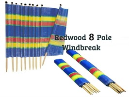 Redwood 8 Pole Tall Windbreak