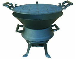 Redwood  Cast Iron Barbecue