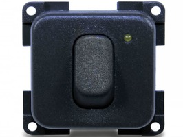 CBE Single Unipolar + LED  Switch - Grey