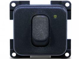 CBE Single Unipolar + LED  Switch - Grey