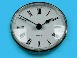 Quartz caravan/Motorhome Clock - Brass Bezel