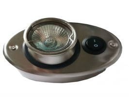 Zoe 10w Oval Eyeball Down Light Brushed Chrome