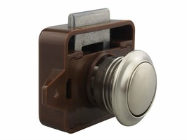 Large Push Button Lock Satin