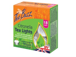 The Buzz Citronella Tea Lights Pack 18