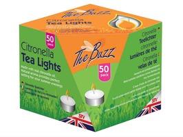 The Buzz Citronella Tea Lights Pack 50