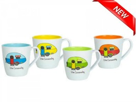 Love Caravanning 4 Pack Mug Set