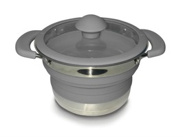 Kampa Folding Saucepan 1 Litre Grey