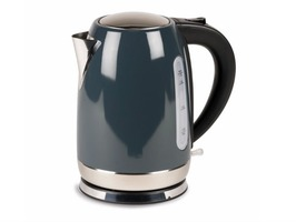Kampa Storm Stainless Steel High Gloss Grey Electric Kettle 1.7 Litre