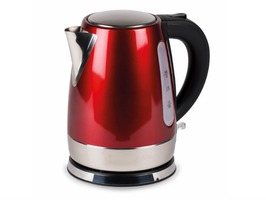 Kampa Cascade Stainless Steel High Gloss Red Electric Kettle 1 Litre