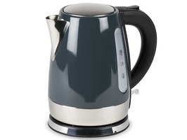 Kampa Cascade Stainless Steel High Gloss Grey Electric Kettle 1 Litre