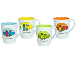 Flamefield  Love Caravanning 4 Pack Mug Set