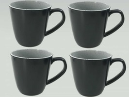 Flamefield Granite Grey Melamine Mug Set 4 pack