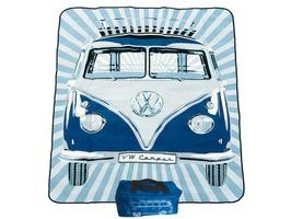 VW Volkswagen Picnic Blanket - Blue