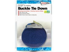 Streetwize Buckle Tie Down with 3 Metre Strap