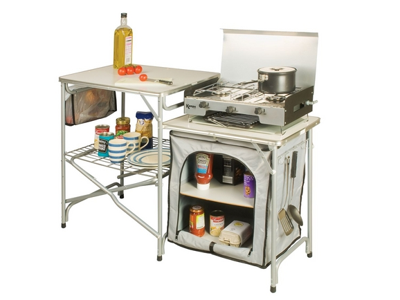 Kampa commander field kitchen for Outdoor kitchen equipment